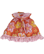 *SPECIAL: Doll Clothes for 38cm Doll - Pink & Orange Floral Dress