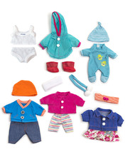 Doll Clothes for 21cm Doll - Set of 6 Outfits