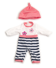 Doll Clothes for 32cm Doll - Pink Winter Pyjamas