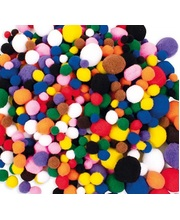 Pom Poms 100pk - Assorted Colours