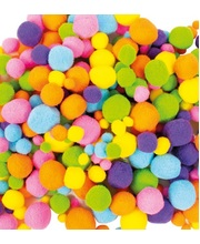 Pom Poms 100pk - Assorted Neon Colours