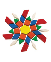 Wooden Pattern Blocks - 250pcs
