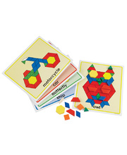 Pattern Block Picture Card Set - 20pcs