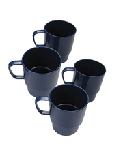 Children's Plastic Mugs - 7.2cm 4pk