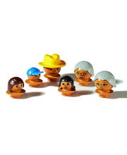 Mobilo Brown Mixed Figures - 6pcs