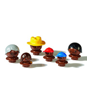 Mobilo Dark Brown Mixed Figures - 6pcs