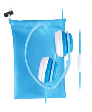 Children's Volume Limited Foldable Headphones - Blue