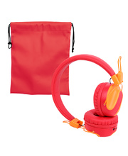 Children's Volume Limited Bluetooth Headphones - Red