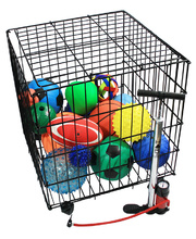 Ball Storage Cage - with 16 Assorted Balls & Pump