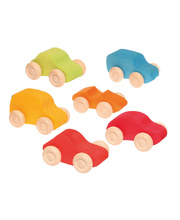 Grimm's Coloured Small Cars - Set of 6