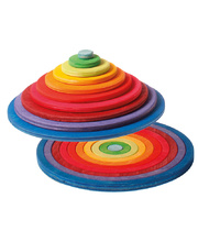 Grimm's Concentric Circles & Rings - Rainbow 20pcs