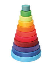 Grimm's Conical Large Rainbow Tower - 11pcs