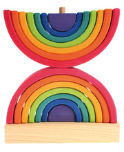 Grimm's Double Rainbow Stacking Tower - 14pcs