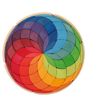 Grimm's Circle Coloured Spiral - 72pcs