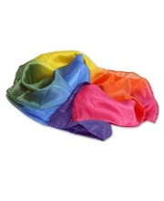 Silk Playcloth/Scarf - Rainbow