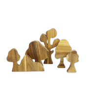 Natural Lichee Tree - Set of 5