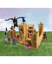Natural Lichee Castle & Felt Medieval Set - 11pcs