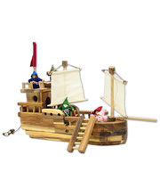 Natural Lichee Pirate Ship