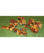 Natural Lichee Big Vehicles - Set of 7