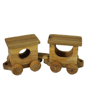 *SPECIAL: Natural Lichee Train Carriages 2pcs - 32 x 10 x 13cmH