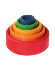 Grimm's Stacking Bowls - Coloured 5pcs