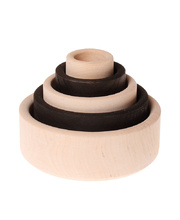 Grimm's Stacking Bowls - Monochrome 5pcs