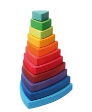 Grimm's Stacking Tower - Triangular 11pcs