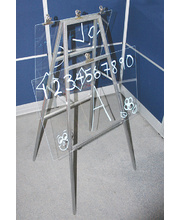 Bellbird Large Acrylic Painting Easel - Light Aztec Silver