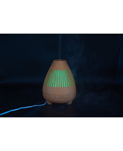 LED Aroma Diffuser & Humidifier - Wooden Ultrasonic Volcano