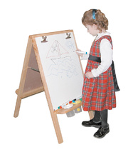 Standing Double Sided Easel - With Whiteboards 90cmH