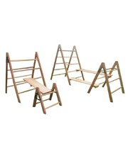 Hardwood Timber Trestles - 3 Rungs 90 x 75cmH