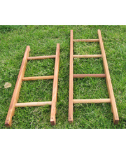 Hardwood Timber Ladders - Set of 4