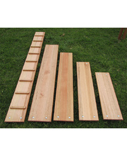 Hardwood Timber Cleated Planks - Set of 3