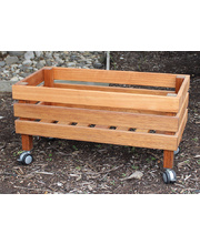Hardwood Mobile Outdoor Garden Box - 80cm