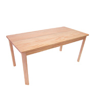 TufStuf Timber Table Rectangle 1200 x 600mm - 50cmH