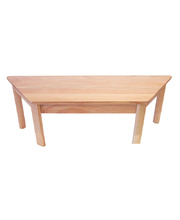TufStuf Timber Table Trapezoid 1200 x 530mm - 28cmH