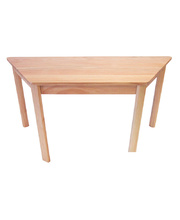 TufStuf Timber Table Trapezoid 1200 x 530mm - 50cmH