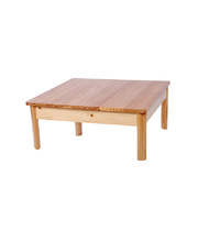 TufStuf Timber Table Square 600 x 600mm - 28cmH