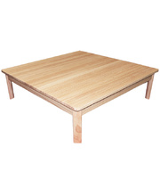 TufStuf Timber Table Large Square 1000 x 1000mm - 28cmH