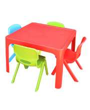 Tikk Tokk Stackable Resin Red - Square Table & 4 Chairs