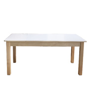 Billy Kidz Wooden Table With White Laminate Top - Rectangle 1200 x 600mm 50cmH