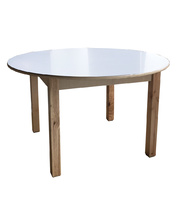 Billy Kidz Birch & White Laminate Table Round 900 x 900mm - 50cmH