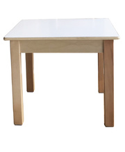 Billy Kidz Birch & White Laminate Table Square 600 x 600mm - 50cmH