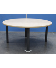 Billy Kidz Large Round Table 1100 x 1100mm Birch - Charcoal Legs Low 38cm