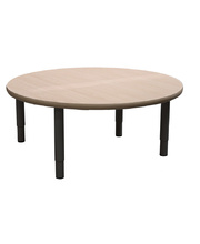 Billy Kidz Large Round Table 1100 x 1100mm - Birch - Adjustable Charcoal Legs