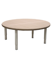 Billy Kidz Large Round Table 1100 x 1100mm - Birch - Adjustable Light Grey Legs
