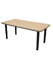 Billy Kidz Rectangle Table 1200 x 600mm Birch - Adjustable Charcoal Legs