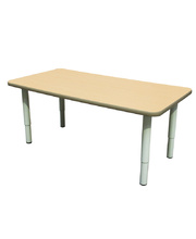 Billy Kidz Rectangle Table 1200 x 600mm Birch - Adjustable Light Grey Legs