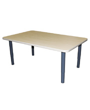Billy Kidz Rectangle Table 1200 x 750mm Birch - Adjustable Charcoal Legs