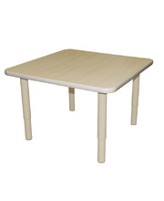 Billy Kidz Square Table 750 x 750mm Birch - Adjustable Cream Legs